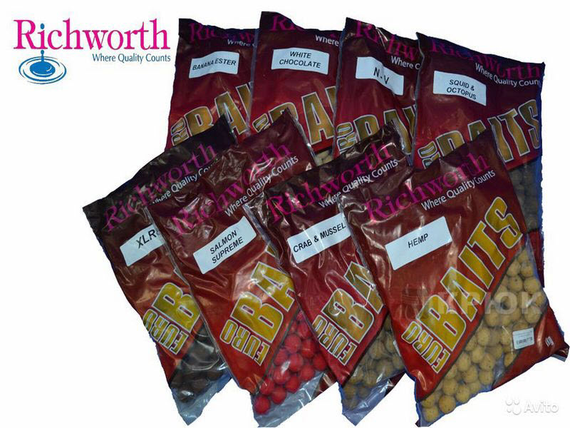 Бойлы Richworth Euro Sweetcorn 18мм 1кг