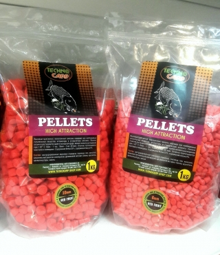 Flavored Carp Pellets Red Fruit  1кг. Технокарп