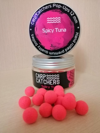 Бойлы pop-up Carp Catchers Spicy Tuna 12mm