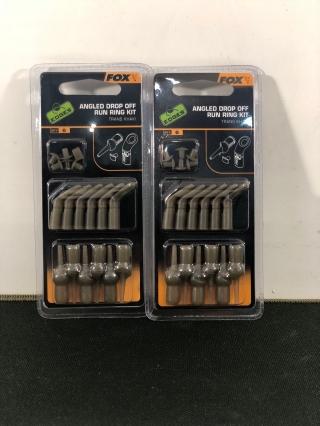 Набор для скользящего монтажа FOX Edges Angled Drop Off Run Ring Kit Trans Khaki x 6