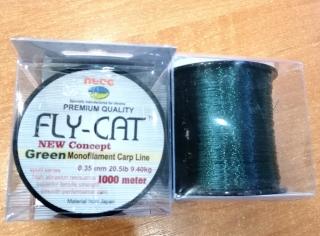Леска FLY CAT зелёная 1000m