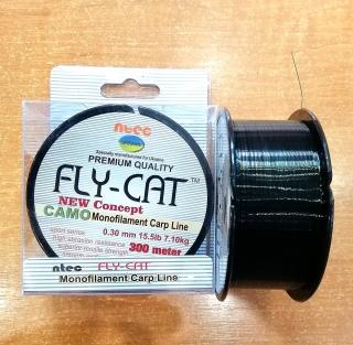 Леска FLY CAT камуфляж 300 м.