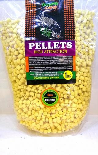 Пеллетс Sweetcorn 3,6,10 мм.Технокарп 1 кг.