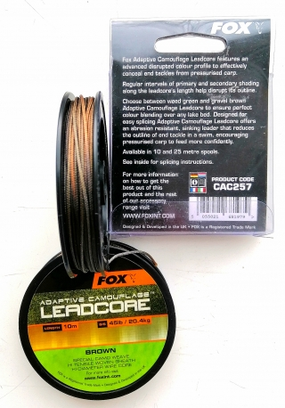 Лидкор камуфляж Brown 10-25m FOX