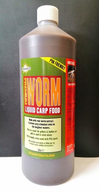"Ликвид Червь""Premium Worm Liquid Carp Food ""DYNAMITE BAITS 1 л."