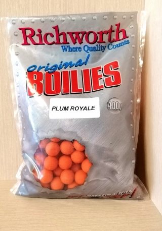 "Бойлы, Слива ""Plum Royale"" 15мм 400грм. Richworth"
