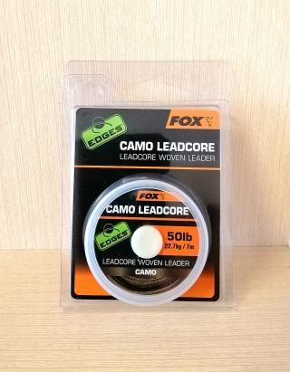 Лидкор с мягкой свинцовой сердцевиной 50lb камуфляжной расцветки (7м) FOX,CAC747