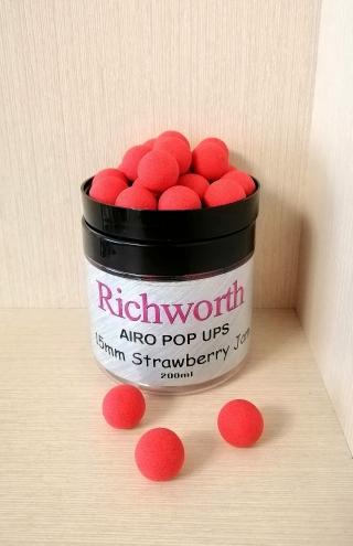 "Бойлы Pop-Ups Клубника ""Strawberry Jam"" 15 мм Richworth"