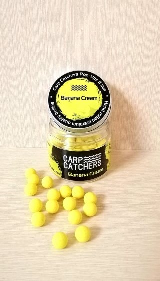Бойлы pop-ups Банан Крем «Banana Cream» 8 mm Carp Catchers