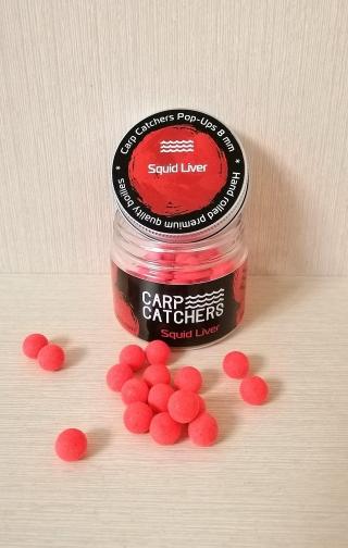 Бойлы pop-ups Кальмар Печень «Squid Liver» 8 mm Carp Catchers