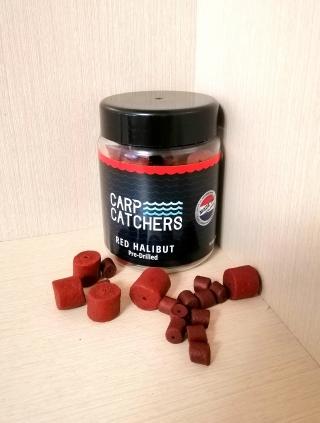 """Насадочный Криллево-Палтусовый пеллетс """"Red-Halibut"""" 8мм-14мм 150 грамм. Carp Catchers."""