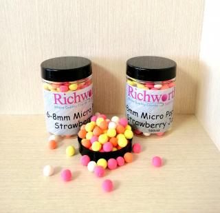 "Бойлы Микро Pop-Ups Клубника Джем ""Strawberry Jam"" 6 - 8 мм Richworth."