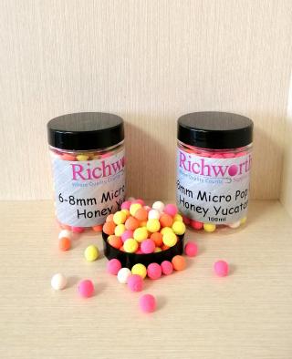 """Бойлы Микро Pop-Ups Мед """"Honey Yucatan"""" 6 - 8 мм Richworth."""