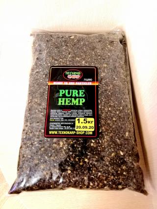 """Конопля вареная Натуральная """"Hemp Seed"""" 1.5 кг. Технокарп."""