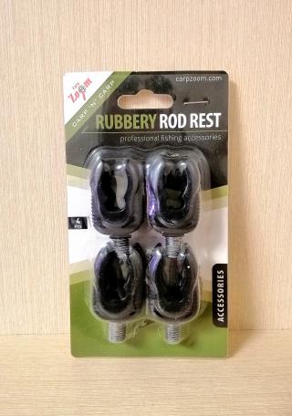 """Рогач силиконовый черный  """"Rubbery Rod Rest"""" 4 шт Carp Zoom"""