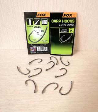 """Крючки """" Curve Shank """" 10 шт. FOX."""