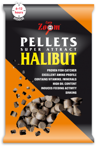 Пеллетс Halibut CarpZoom 800гр