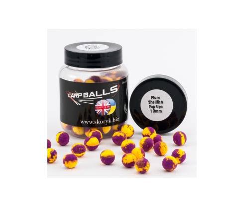 Бойлы Pop Ups 10mm 15шт Plum Shellfish CARPBALLS