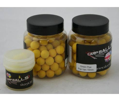 Бойлы Pop Ups 10mm 15шт Green Pee CARPBALLS