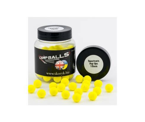 Бойлы Pop Ups 10mm Sweetcorn CARPBALLS