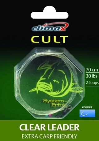 Поводок Climax CULT Clear Leader 30lb.