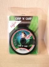 "Поводочный материал в оплётке ""Semi-stiff skinline Moss green""20 м. 25lb Carp Zoom"