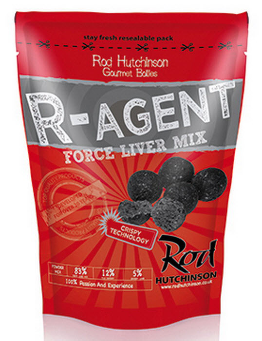 Бойлы Rod Hutchinson R-Agent And Force Liver Mix 20mm 1 kg
